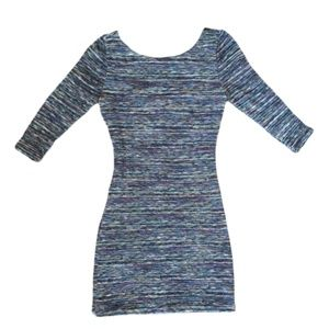 Lily Rose Low Back Multicolor Textured Mini Dress
